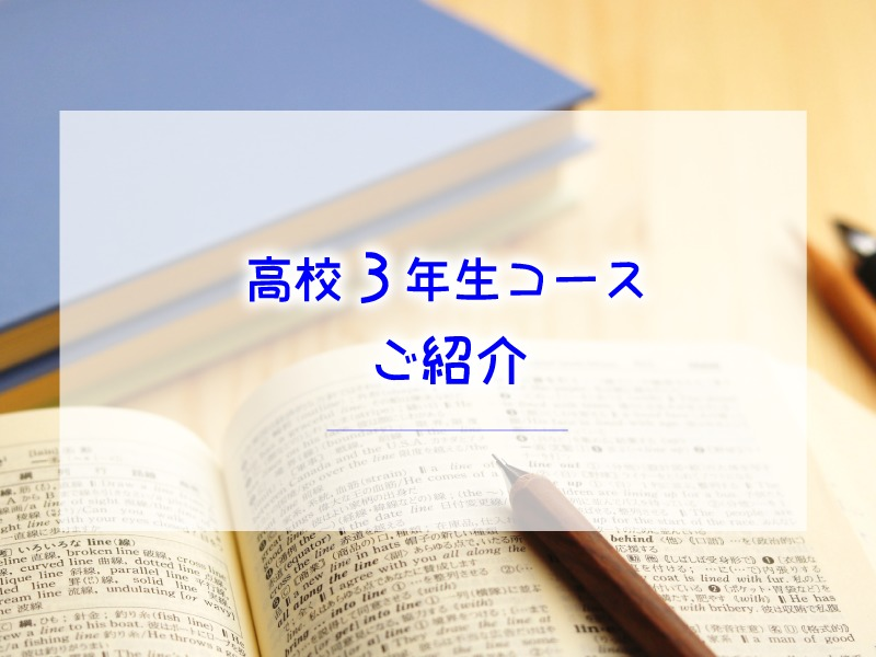 教育プロジェクト清水塾 高校3年生コースのご紹介